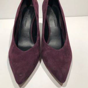 Rebecca Minkoff suede cone heeled shoes size 7